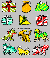 6 Christmas Hatchables CLOSED by DaisyWarriorCats