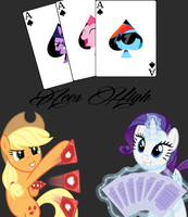 Aces High Match Card by DigiRadiance
