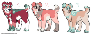 Mutt Puppies point adoptables by FourDirtyPaws