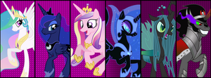 MLP Facebook Banner - Royalty by NeonSenpai