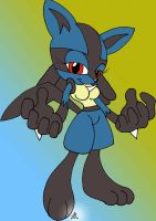 Sonic Lucario girl Painted by lol20