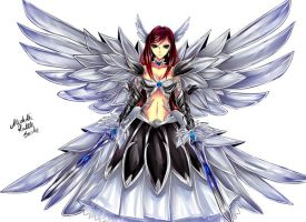 Erza Heaven's wheel armor by AlcoholicRattleSnake