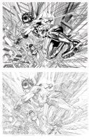 Superman and Robin Inks by keithdraws