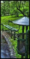 Sit in rain by YasminA87