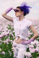 Fields of purple III by xessencex