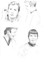 Star Trek TOS - Sketches by meilin-mao