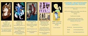 COMMISSION PRICES!!!!! :D by harmony-heartstrings