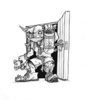 Goblin at the door by butterfrog