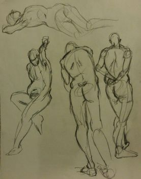 Gesture Drawing 1: 2 min by Diouveruh