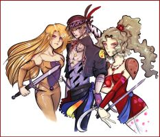 ffvi - celes, locke, terra by spoonybards