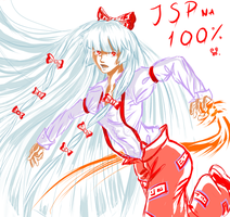 Mokou goes for JSP by Wilkoak