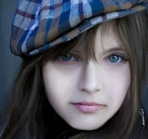 Blue Eyes Digital Portrait by designsofakhter