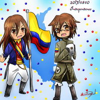Happy Independence day Colombia by HiyoKinomono