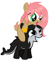 Open Collab  Verlo Filly Pup -fin collab by Arianstar