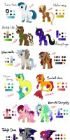 Point Adoptables Ponies - CLOSED- by Eifi--Copper
