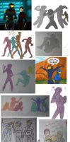 Red vs Blue sketchdump by AltairA7Vn
