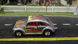 VW Beetle with Flames by hankypanky68