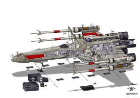 W.i.P. Star Wars X-Wing by Paul-Muad-Dib