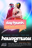 Daft Punk Flyer by JaredR672