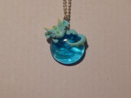 Sleeping Blue Dragon Necklace by XDtheBEASTXD