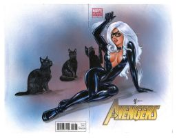 Black Cat Spiderman cover 2 by Melanarus