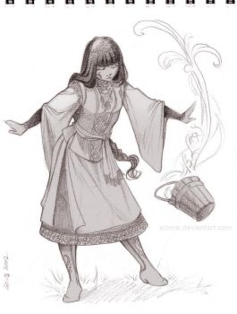 Housewife witch by sionra