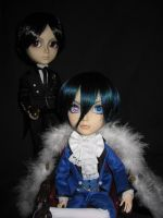 Ciel Phantomhive and Sebastian by Gaaraa-faaan