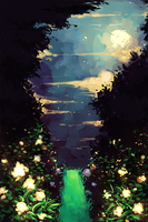 glowing forest by shiiso-tikku
