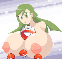 Ace trainer training some voltorbs by Elfdrago