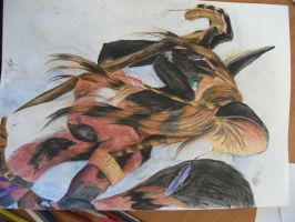 African Wild Dog, Finished by delilittle