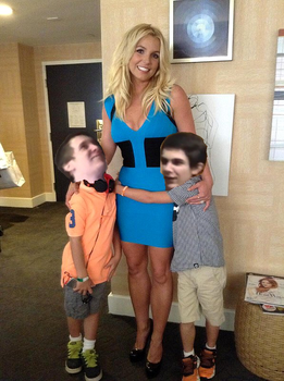 Wills and Henry meet Britney Spears by Brickinator