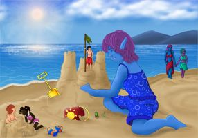 Beach day by Kindii