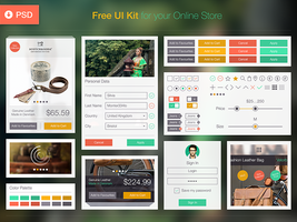 Free Online Store UI Kit [PSD] by Ramotion