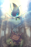 Shrine of Ilex forest - Celebi - by EvilQueenie