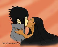 SasuPoca kiss by mssConstance15