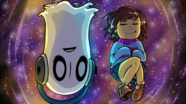 Relaxation .- Undertale -. by BeyondTheOcean