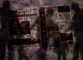 Bronx Times Zombie Newspaper by bobbyboggs182