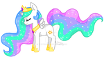 Pony Drawings 65 Celestia Chib by SunlightSunburst