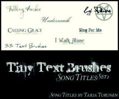 Song Titles Brush Set 2 by NemesisDivina666