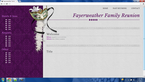 N.O. Family Reunion Website by tahbikat