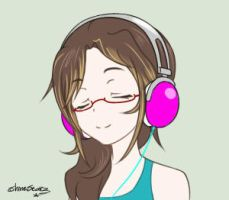 Just me and my music [Animation] by ShineStarz