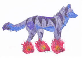 Wolf for LosingMyTemper by DappleFeather