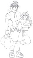 Jack and Jill with Groceries by Tyrranux