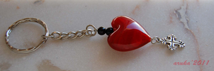 Heart Keychain by arukafox