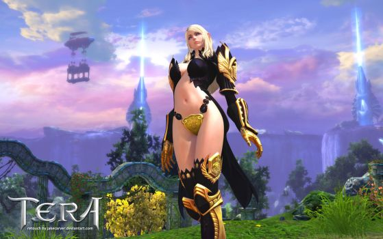Sexy Female High Elf (Tera Online MMORPG) by JakeCarver
