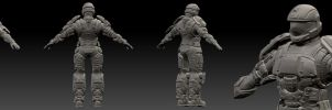 ODST Character Model WIP by SS-Crow