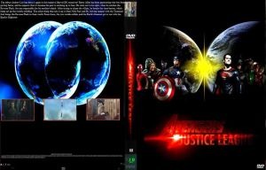 Avengers vs. Justice League DVD cover by SteveIrwinFan96