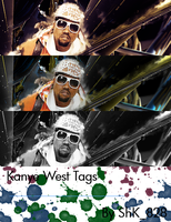 kanye west tag wall. by shk828