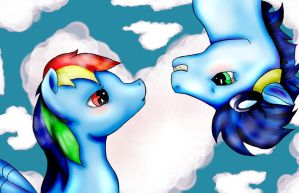 Rainbowsdash and Soarin Vector by RedEmbers