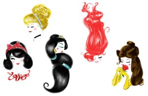 Disney Princesses by Q7D2